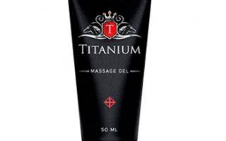 Гель Titanium для увеличения члена