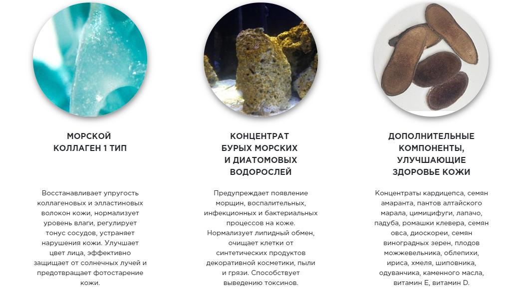 Состав маски Algonika