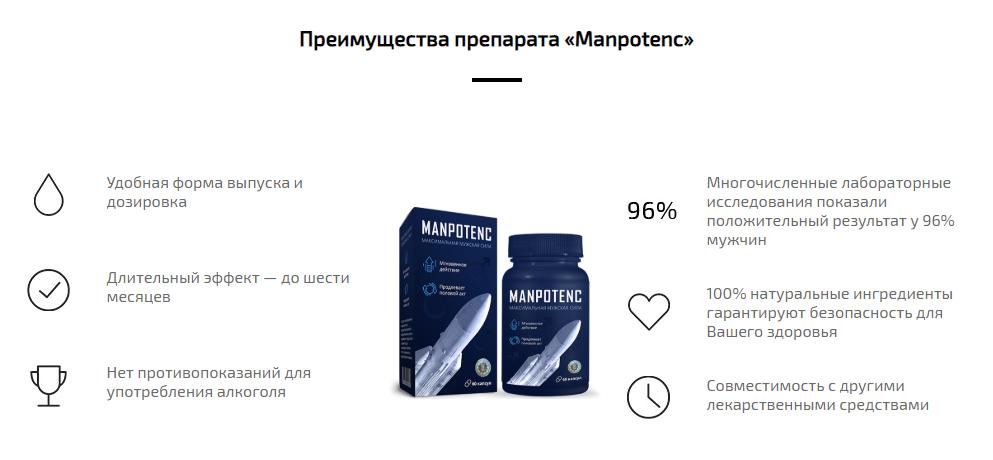 Преимущества капсул Менспотенс