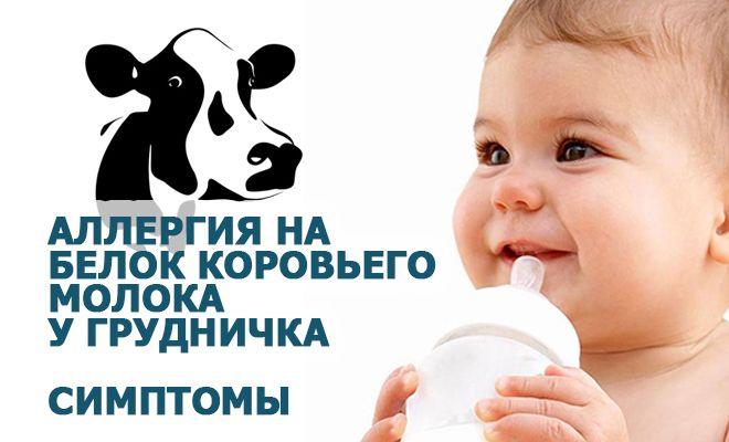 Аллергия на коровий белок у детей